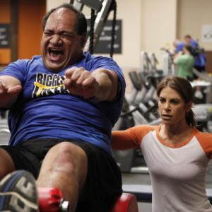 Still of Jillian Michaels and Moses Kinikini in The Biggest Loser (2004)