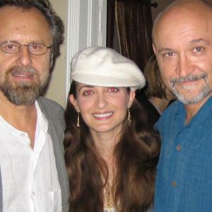 Jan Kaczmarek, Kathleen Davison, and Frank Darabont at the Painted Saint Entertainment music in film symposium.