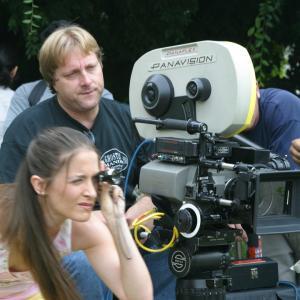 Kathleen Davison directing Effloresce alongside director of photography, John O'Shaughnessy