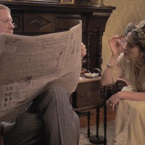 Noah James Butler and Kathleen Davison as William and Emma Monroe in Primrose Lane