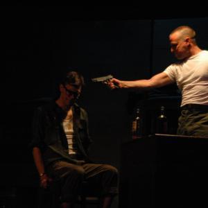 Jon Bremner as Epstein and Scott Rollins as Sgt Toomey in BILOXI BLUES by Neil Simon Norfolk VA
