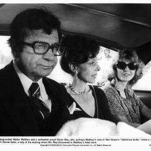 Still of Walter Matthau Denise Galik and Elaine May in California Suite 1978