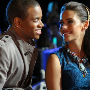Still of Jessica Lowndes and Tristan Wilds in 90210 (2008)
