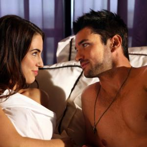 Still of Wes Brown and Jessica Lowndes in 90210 (2008)