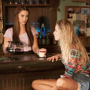 Still of Jessica Lowndes and Gillian Zinser in 90210 (2008)