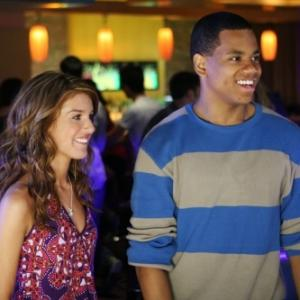 Still of Shenae GrimesBeech and Tristan Wilds in 90210 2008