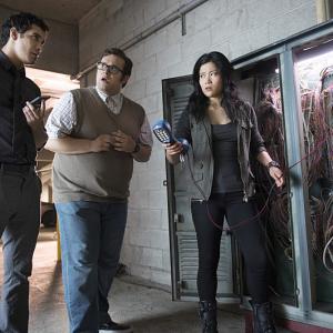 Still of Elyes Gabel Jadyn Wong and Ari Stidham in Scorpion 2014