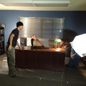 On set for short The Occupation of Miranda D