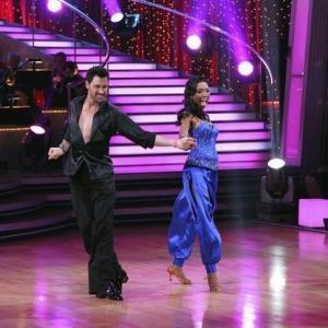 Still of Brandy Norwood and Maksim Chmerkovskiy in Dancing with the Stars 2005