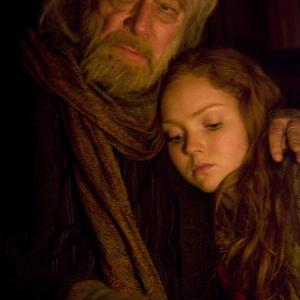 Still of Christopher Plummer and Lily Cole in The Imaginarium of Doctor Parnassus 2009