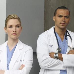 Still of Chyler Leigh and Jesse Williams in Grei anatomija 2005