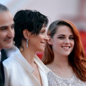 Juliette Binoche Olivier Assayas and Kristen Stewart at event of Clouds of Sils Maria 2014