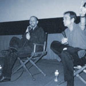 Bob Nuchow moderating Keith Gordon Robert Downey Jr at Los Angeles THE SINGING DETECTIVE screeningQA