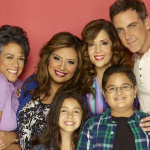 Still of Carlos Ponce, Maria Canals-Barrera, Terri Hoyos, Cristela Alonzo, Isabella Day and Jacob Guenther in Cristela (2014)