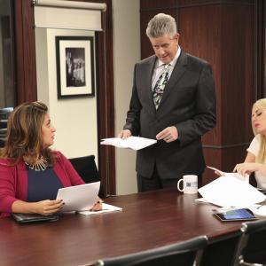 Still of Sam McMurray, Cristela Alonzo and Justine Lupe in Cristela (2014)