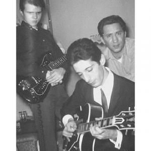 from back int he 60's, jazz jammin in our livingroom, my brother Larry, my dad, and his young friend Pat Martino, legendary jazz guitarist.