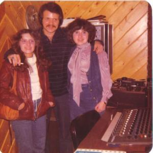 At my brother Larry's NYC recording studio with sister Susan. Larry played guitar and recorded with Phoebe Snow, played for Eartha Kitt, Alexis Smith, On Broadway for original Sweeney Todd, and a world tour with Maureen McGovern