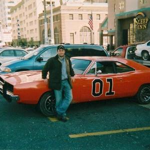 On set of Dukes of Hazzard  The Movie in New Orleans 2005