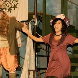 Aisha Kabia  Danny Campbell in the Independent Shakespeare Co production of The Merry Wives of Windsor