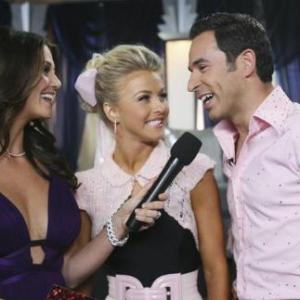 Samantha Harris, Helio Castroneves, Julianne Hough