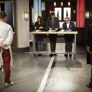 Still of Wolfgang Puck, Gail Simmons, Curtis Stone, Marcel Vigneron and Richard Blais in Top Chef Duels (2014)