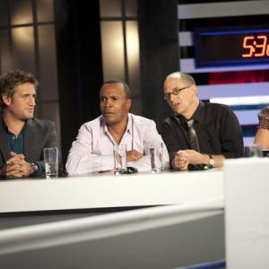 Still of Sugar Ray Leonard, James Oseland, Curtis Stone and Krista Simmons in Top Chef Masters (2009)