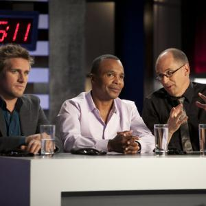 Still of Sugar Ray Leonard, James Oseland and Curtis Stone in Top Chef Masters (2009)