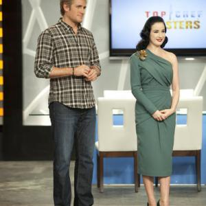 Still of Dita Von Teese and Curtis Stone in Top Chef Masters (2009)