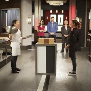 Still of Wolfgang Puck, Gail Simmons, Curtis Stone and Shirley Chung in Top Chef Duels (2014)
