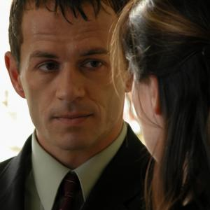 Still of Jonny Rees and Catherine Farrell in Red Roses and Petrol 2003
