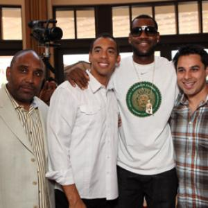 LeBron James, Harvey Mason Jr., Kristopher Belman, Dru Joyce