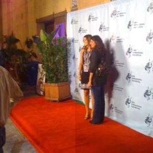 With producer Natasha Atalla