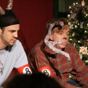 Cory Jacob as Comet and Jeff Vernon as Donnor in Actors Acting UP!s production of The 8 Reindeer Monologues Directed by Cory Jacob