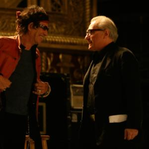 Still of Martin Scorsese and Keith Richards in Shine a Light 2008