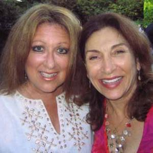 ELAYNE BOOSLER WITH GEORJA UMANO AT ELEPHANT FUNDRAISER