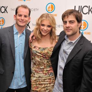 Derick Martini Chlo Grace Moretz and Berry Meyerowitz at event of Hick 2011