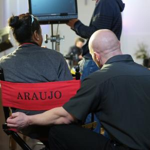 Araujo during production of Modos: The Prophecy Armageddon