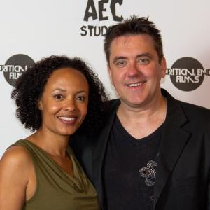 Actress Denielle Fisher Johnson and Director Brian McCulley at The Locals Premiere 2014