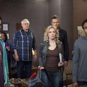 Still of Chevy Chase Joel McHale Gillian Jacobs Danny Pudi and Donald Glover in Community 2009