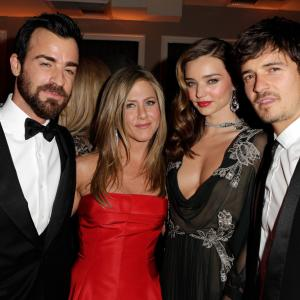 Jennifer Aniston, Orlando Bloom, Justin Theroux, Miranda Kerr