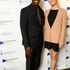 Canadian actors Michael A Amos and Katie Uhlmann spotted at the Scarborough Film Festival