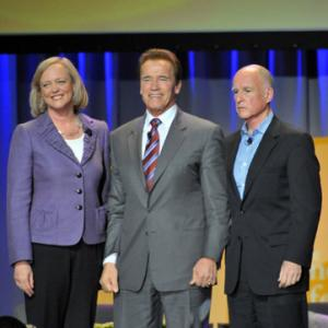 Arnold Schwarzenegger, Jerry Brown, Meg Whitman