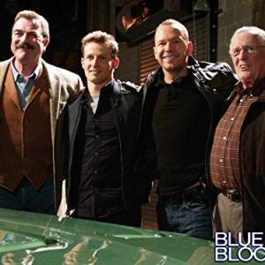 Still of Tom Selleck, Donnie Wahlberg, Len Cariou and Will Estes in Blue Bloods (2010)