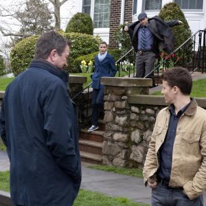 Still of Tom Selleck, Bridget Moynahan, Donnie Wahlberg and Will Estes in Blue Bloods (2010)