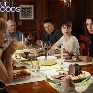 Still of Bridget Moynahan, Len Cariou, Amy Carlson, Will Estes and Sami Gayle in Blue Bloods (2010)