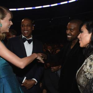 Jay Z, Kanye West, Taylor Swift, Kim Kardashian West