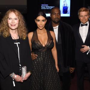 Mia Farrow, Kanye West, Kim Kardashian West, Ronan Farrow