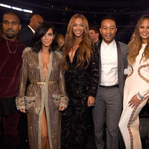 Beyoncé Knowles, Kanye West, John Legend, Kim Kardashian West, Chrissy Teigen