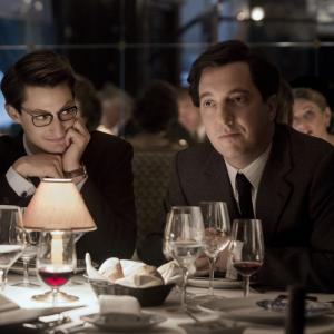 Still of Guillaume Gallienne and Pierre Niney in Yves Saint Laurent 2014