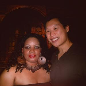 Latrice Butts with Jimmy Tsai @ The Pre-Opening VIP Reception for The Asian Film Festival. Jimmy is an Chinese American he's a very talented Actor/Writer.